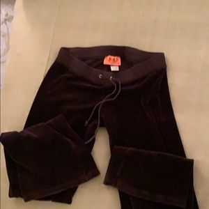 COPY - Juicy Couture chocolate brown velour pants